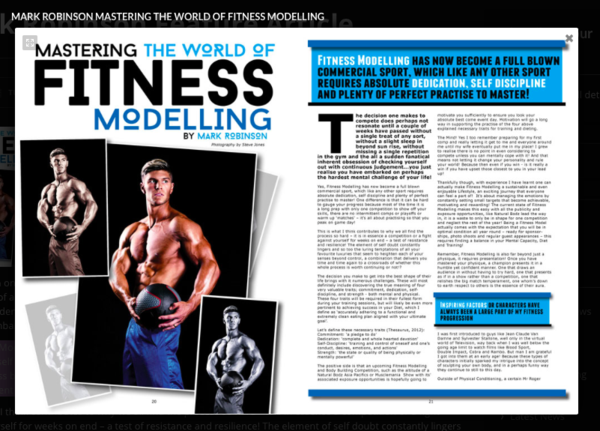 Fitness Modelling Article